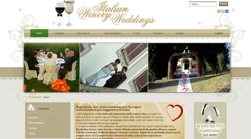 Italian Winery Weddings